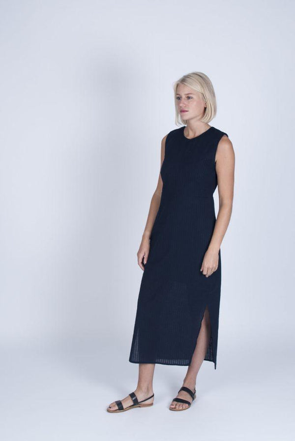 Ethical Blue Dress-Veryan-MAMOQ