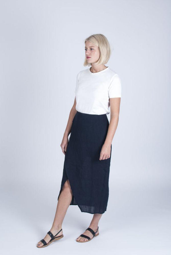 Ethical Blue Skirt-Veryan-MAMOQ