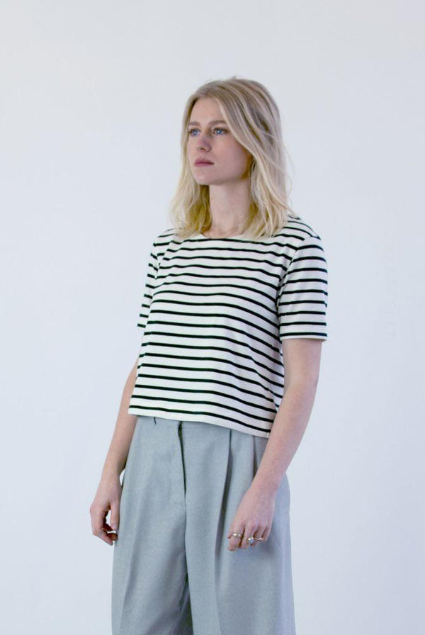 Ethical Striped T-Shirt-Veryan-MAMOQ