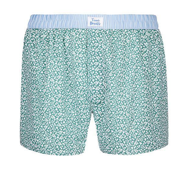 Evergreen Green Cotton Boxers-True Boxers-MAMOQ