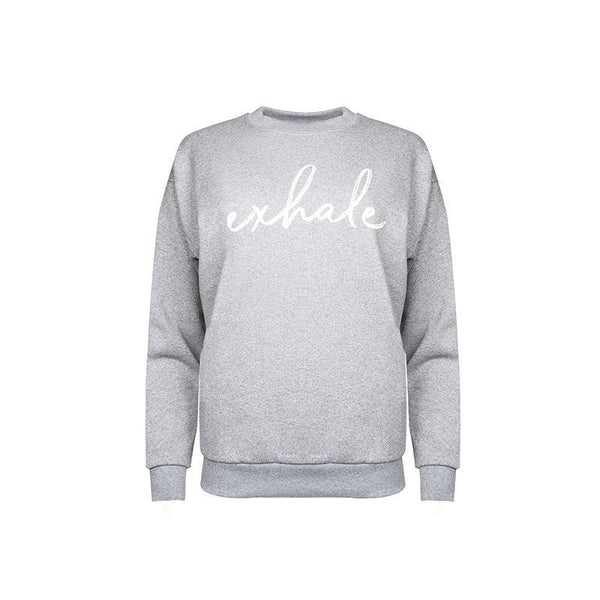 Exhale Sweatshirt - Grey-Flock by Nature-MAMOQ
