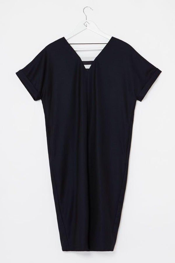 Fair Wool V-Neck Dress-Elsien Gringhuis-MAMOQ