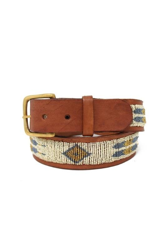 Feather Light Gold Leather Belt-Aspiga-MAMOQ