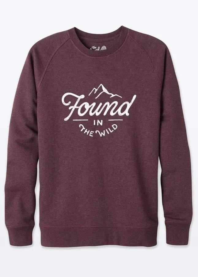 Found In The Wild Unisex Grape Organic Cotton Sweater-The Level Collective-MAMOQ