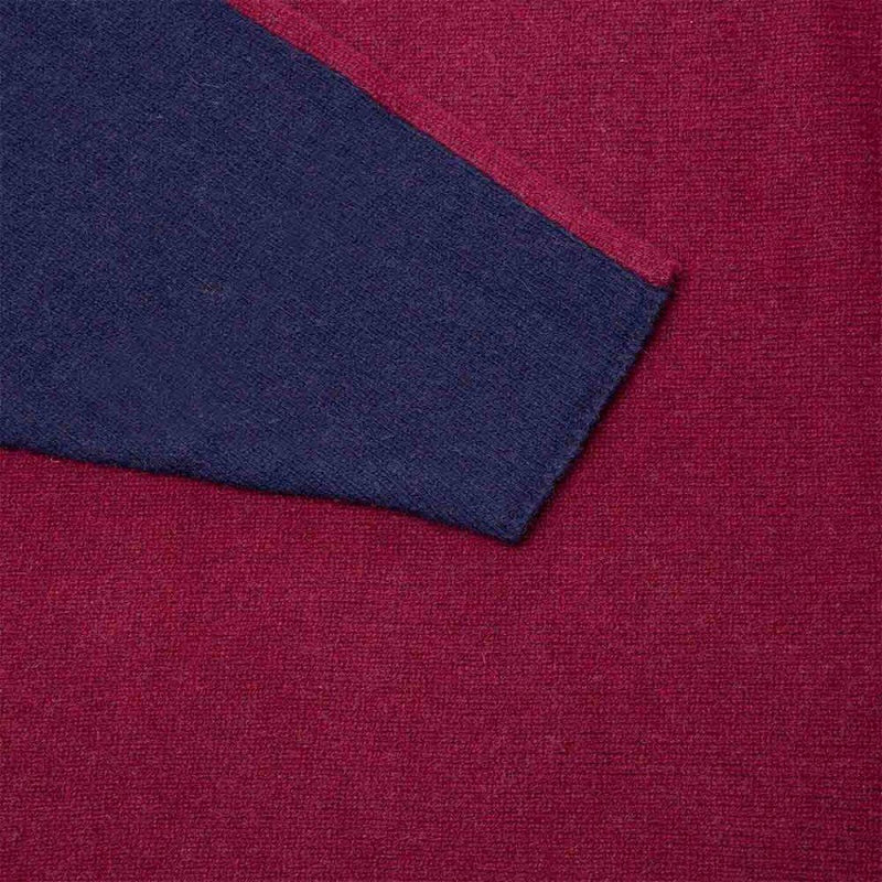 Francesca Red Montalcino / Blue Mora Sweater-Rifò-MAMOQ