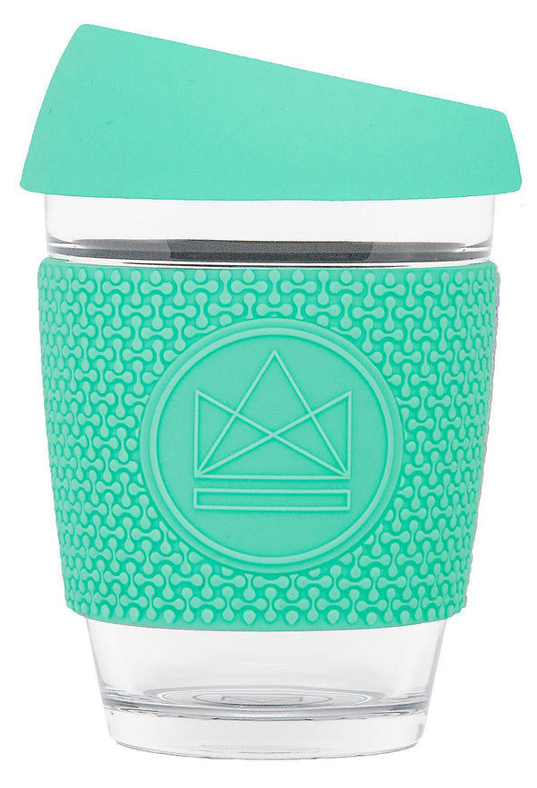 Free Spirit Mint Green Glass Reusable Coffee Cup-Glass Coffee Cups-Neon Kactus-MAMOQ