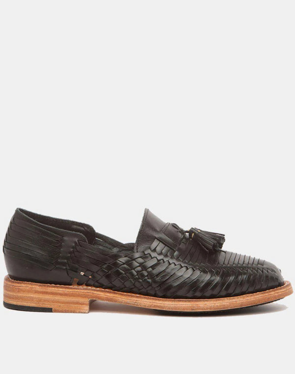 Frida Black Men's Leather Loafers-Huarache-CANO-MAMOQ