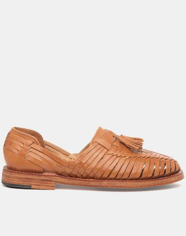 Frida Cognac Women's Leather Loafers-Huarache-CANO-MAMOQ