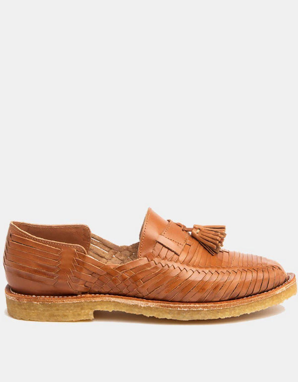 Frida Natural Cognac Men's Leather Loafers-Huarache-CANO-MAMOQ