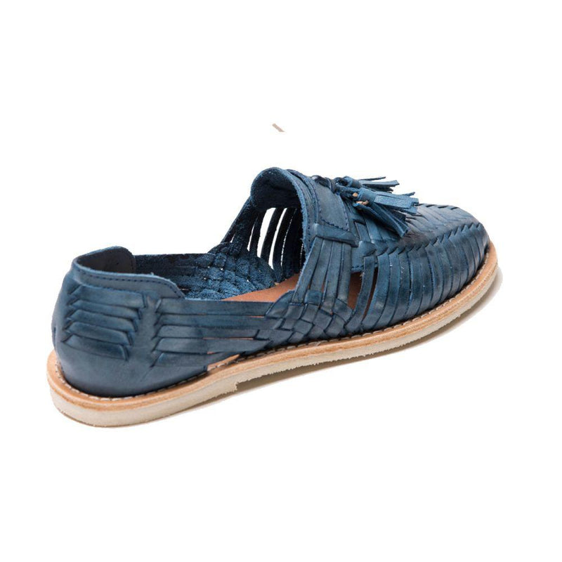 Frida Rubber Blue Handmade Leather Loafers-CANO-MAMOQ