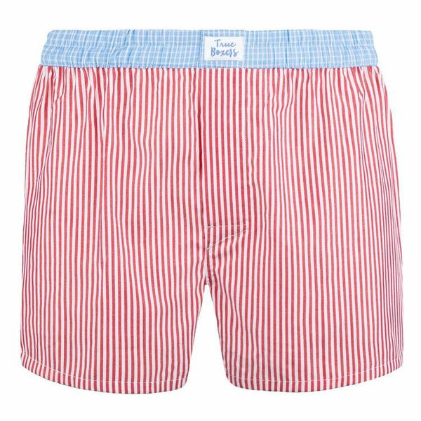 Garden Eden Red Cotton Boxers-True Boxers-MAMOQ