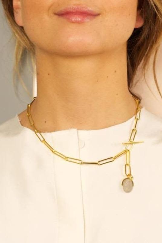 Genie Oval Chain Necklace-SeeMe-MAMOQ