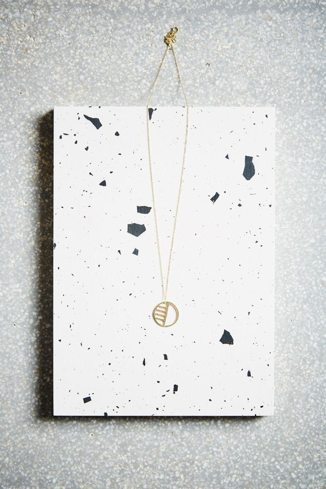 Gold Eclipse Necklace-KIND Jewellery-MAMOQ