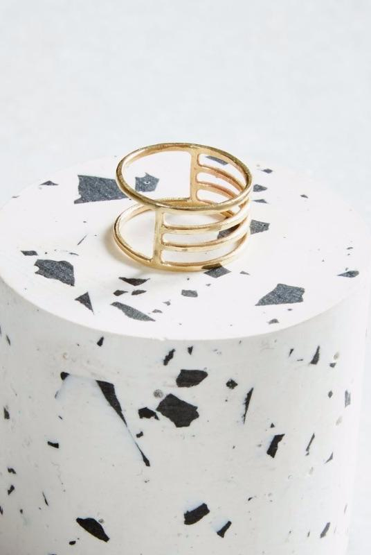 Gold Eclipse Ring-KIND Jewellery-MAMOQ