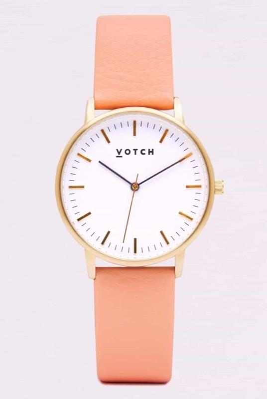 Gold Face & Coral Strap-Votch-MAMOQ