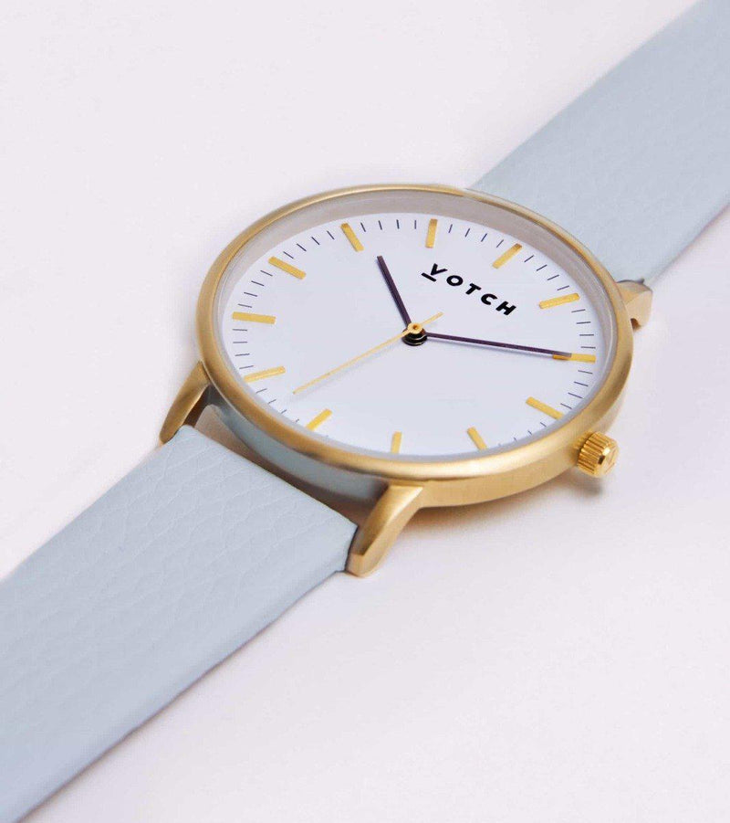 Gold Face & Light Blue Strap-Votch-MAMOQ