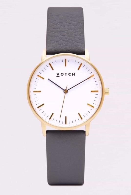 Gold Face & Slate Grey Strap-Votch-MAMOQ