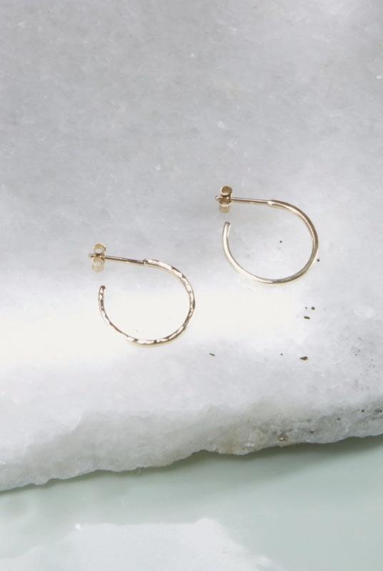 Gold Hidden Orbit Hoops-KIND Jewellery-MAMOQ