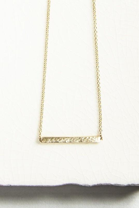 Gold Horizon Bar Necklace-KIND Jewellery-MAMOQ