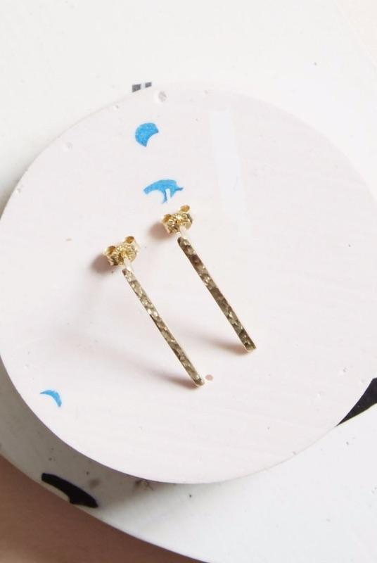 Gold Horizon Earrings-KIND Jewellery-MAMOQ