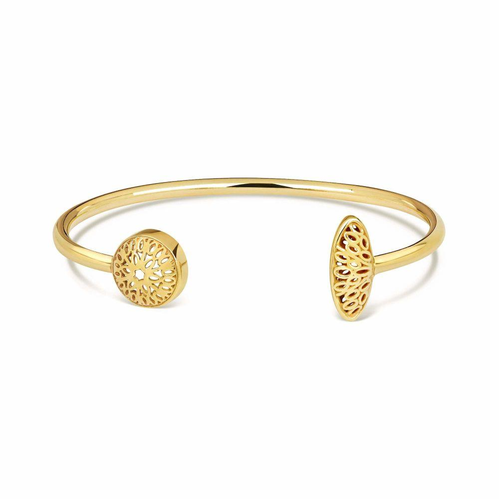 Gold Seville Bangle-Little by Little Jewellery-MAMOQ
