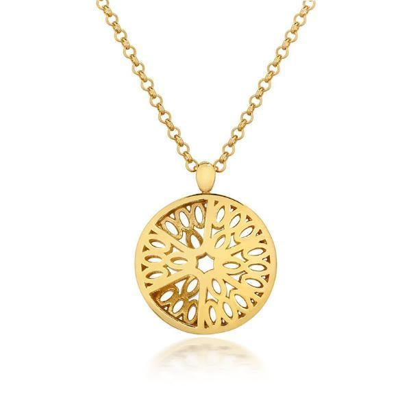 Gold Seville Dome Pendant-Little by Little Jewellery-MAMOQ