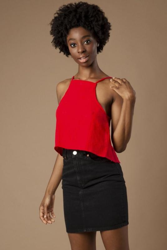 Grace Red Organic Linen Open Back Top-Mayamiko-MAMOQ
