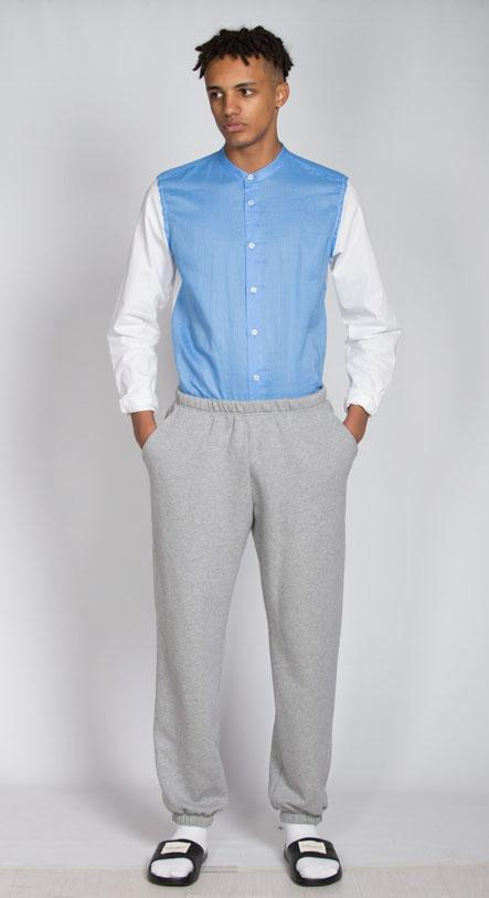 Grey Organic Cotton Sweatpants-Rozenbroek-MAMOQ