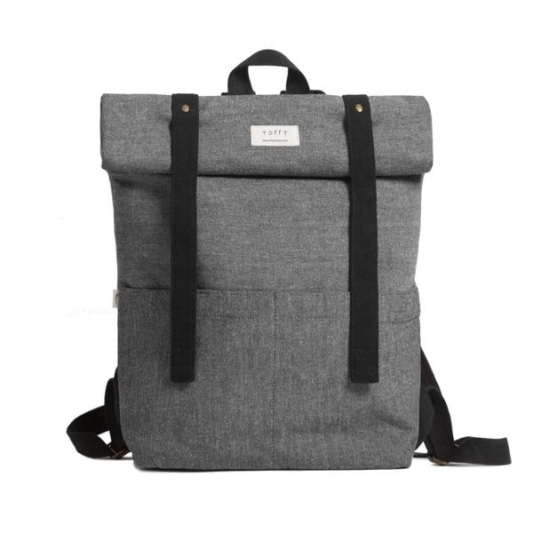 Grey Rolltop Backpack-Tale Of The Future-MAMOQ