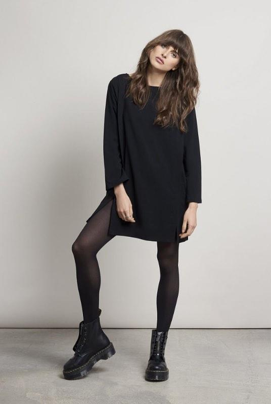 Harbour Black Bamboo Tunic Dress-Komodo-MAMOQ