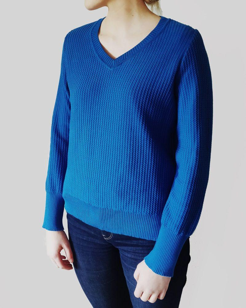 Harvest Blue Organic Cotton Jumper-Le Pirol-MAMOQ