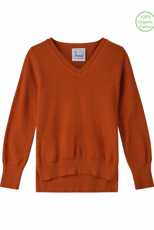Harvest Burnt Orange Organic Cotton Jumper-Le Pirol-MAMOQ