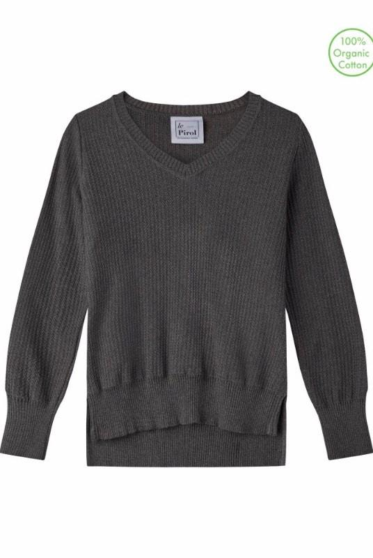 Harvest Grey Organic Cotton Jumper-Le Pirol-MAMOQ