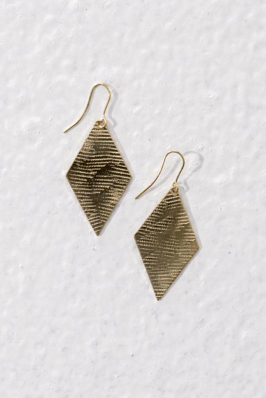 Heera Gold Color Brass Earrings-Jewellery-Komodo-MAMOQ