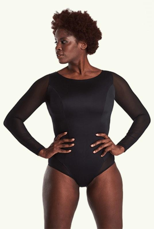 Hendrix Black Long Sleeve Swimsuit-Deakin and Blue-MAMOQ