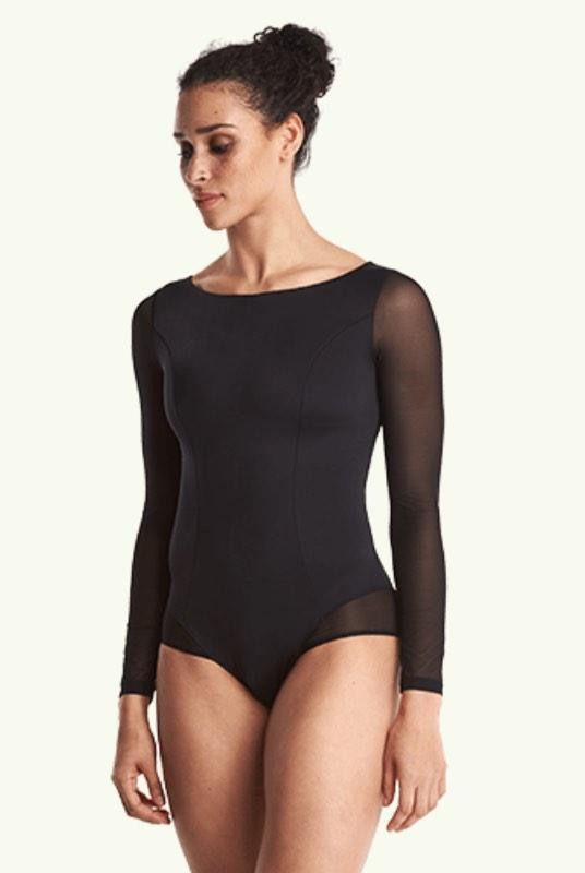 Hepburn Black Long Sleeve Swimsuit-Deakin and Blue-MAMOQ