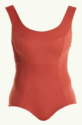 Hepburn Moroccan Red Crossback Swimsuit-Deakin and Blue-MAMOQ