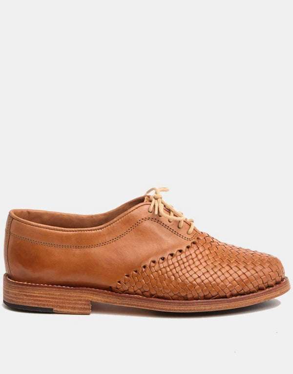 Hidalgo Cognac Men's Leather Shoes-Oxford & Derby-CANO-MAMOQ