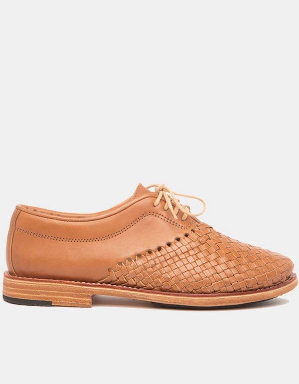 Hidalgo Cognac Women's Leather Shoes-Oxford & Derby-CANO-MAMOQ