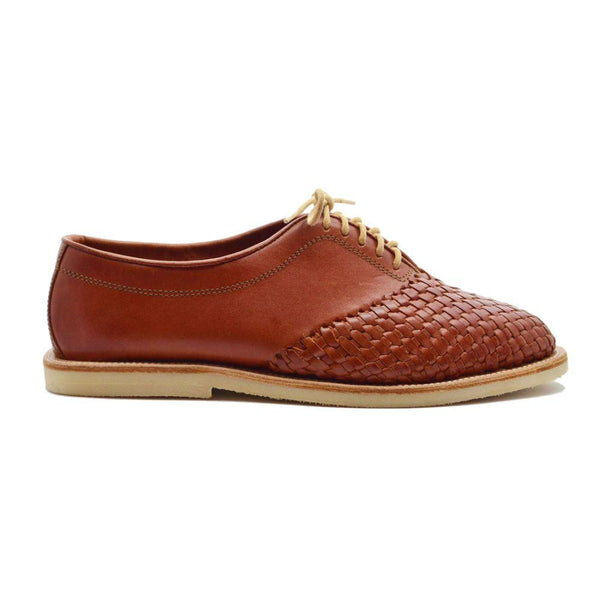 Hidalgo Rubber Brown Handmade Leather Shoes-CANO-MAMOQ