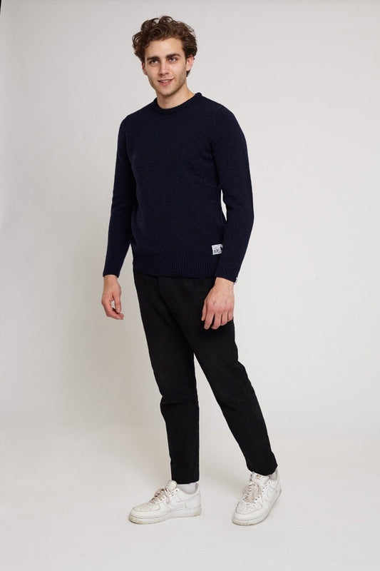 Hockley Oxford Blue Lambswool Jumper-Absolutely Bear-MAMOQ
