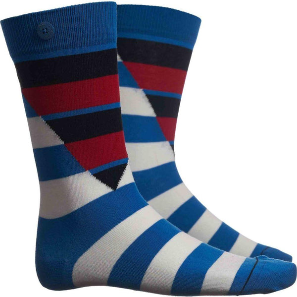 Hockney Cycle Blue Socks-Qnoop-MAMOQ