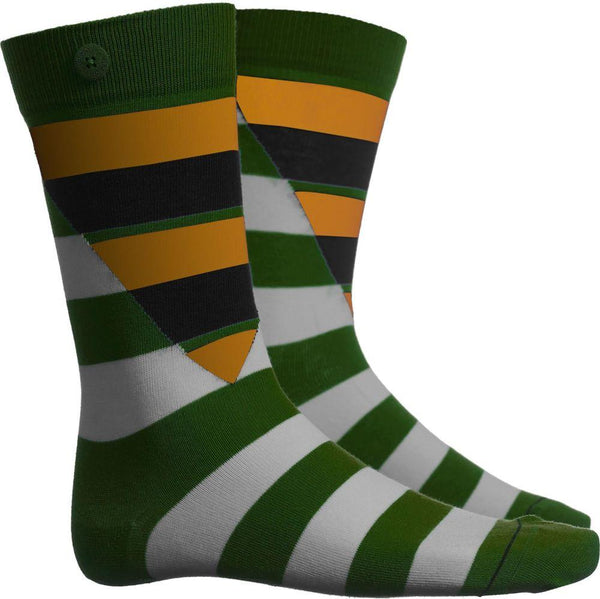 Hockney Glass Green Socks-Qnoop-MAMOQ