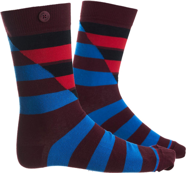 Hockney Wine Red Organic Cotton Socks-Hockney-Qnoop-MAMOQ