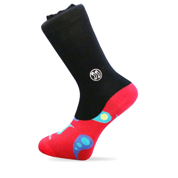 Homeless Paisley Red Cotton Office Combo Socks-Stand4 Socks-MAMOQ