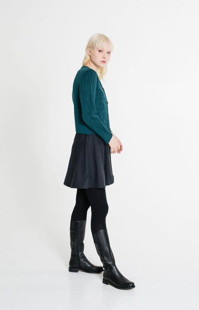 Horizon Wool Cardigan Alpine Green-TAUKO-MAMOQ
