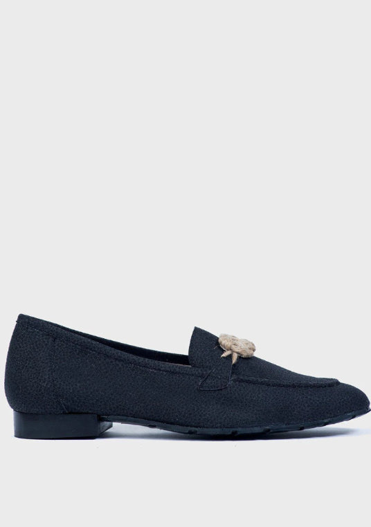 Horse Black Eco Suède Loafer-Shoes-Momoc Shoes-MAMOQ