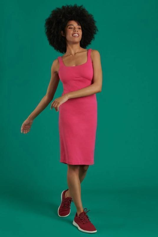 Hot Pink Reclaimed Jersey Bodycon Dress-Dresses-Mayamiko-MAMOQ