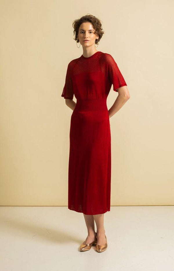 Hue Dress Salsa Red-TAUKO-MAMOQ