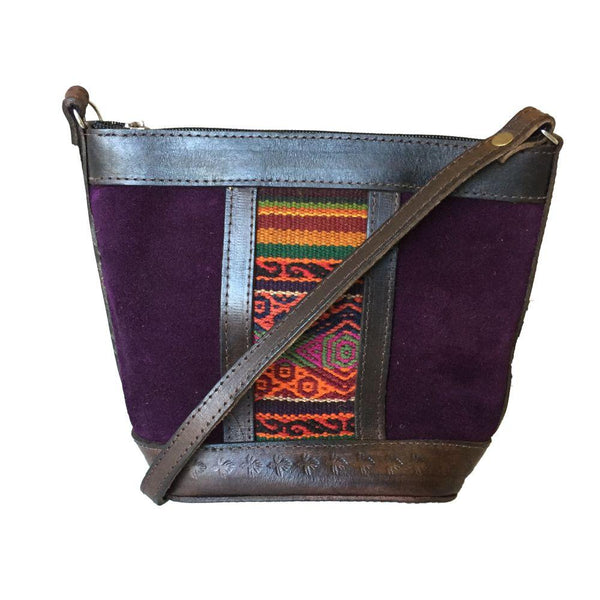 Illampu Purple Natural Leather Handbag-Untold Treasures-MAMOQ
